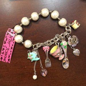 Rare Betsey Johnson Tea Party Bracelet
